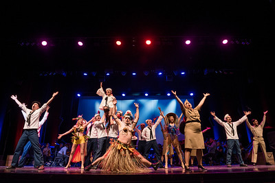 DAVID LIPNOWSKI / WINNIPEG FREE PRESS  The cast of South Pacific perform during a media call Friday, April 7, 2017 at the Centennial Concert Hall.