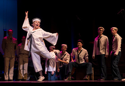 DAVID LIPNOWSKI / WINNIPEG FREE PRESS  Jillian Willems performs as Nellie Forbush with the cast of South Pacific perform during a media call Friday, April 7, 2017 at the Centennial Concert Hall.