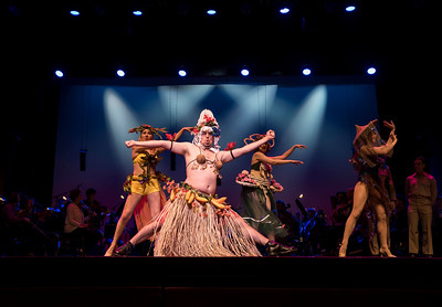 DAVID LIPNOWSKI / WINNIPEG FREE PRESS  Simon Miron performs as Luther Billis during the South Pacific media call Friday, April 7, 2017 at the Centennial Concert Hall.
