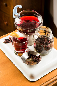 DAVID LIPNOWSKI / WINNIPEG FREE PRESS  Romantically Ruby Red Hibiscus Tea  Photographed for Wendy King column Monday February 6, 2017.