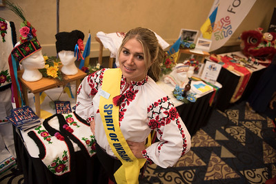 DAVID LIPNOWSKI / WINNIPEG FREE PRESS  Nicole Works is an Ambassador for the Spirit of Ukraine pavillion and is photographed at a Folklorama media call at the RBC Convention Centre Thursday July 21, 2016.
