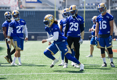 DAVID LIPNOWSKI / WINNIPEG FREE PRESS  Winnipeg Blue Bombers #3 Macho Harris during practice at Investors Group Field Tuesday June 21, 2016.