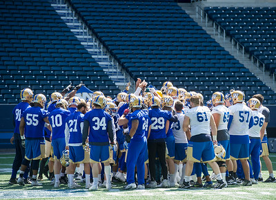 DAVID LIPNOWSKI / WINNIPEG FREE PRESS  Winnipeg Blue Bombers during practice at Investors Group Field Tuesday June 21, 2016.