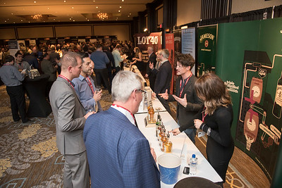 DAVID LIPNOWSKI / WINNIPEG FREE PRESS  Patrons take in the 2017 Winnipeg Whiskey Festival Friday March 3, 2017 at the Fairmont Hotel.