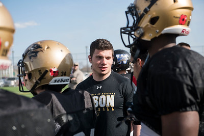 DAVID LIPNOWSKI / WINNIPEG FREE PRESS  Former University of Manitoba Bisons' DJ Lalama at the University of Manitoba Bisons 2016 spring camp Sunday May 1, 2016 at the University of Manitoba Turf Fields. DJ Lalama just signed on to go to New York Giants mini-camp,