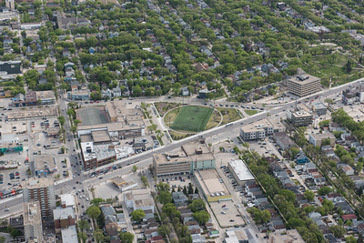 DAVID LIPNOWSKI / WINNIPEG FREE PRESS  Gordon Bell Green Space  Aerial photography over Winnipeg May 18, 2016 shot from STARS helicopter.
