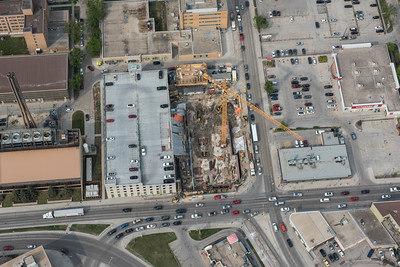 DAVID LIPNOWSKI / WINNIPEG FREE PRESS  Manitoba Clinic Construction Site  Aerial photography over Winnipeg May 18, 2016 shot from STARS helicopter.