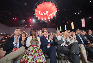 DAVID LIPNOWSKI / WINNIPEG FREE PRESS  The audience applauds during the opening of the 2016 Liberal Biennial Convention at RBC Convention Centre Thursday May 25, 2016.