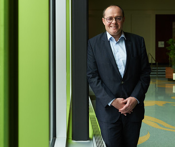 DAVID LIPNOWSKI / WINNIPEG FREE PRESS  Pascal Leroy, Vice-President of Pea and New Proteins, Roquette poses for a photo at Club Regent Event Centre Thursday May 31, 2018. Mr. Leroy  is speaking at a World Trade Day event  about why the France based company is spending $400 million on a pea protein plant in Portage la Prairie, Manitoba.