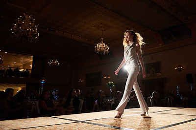 DAVID LIPNOWSKI / WINNIPEG FREE PRESS  Models walk the runway during the 2018 Bear Essentials Fashion Show and Dinner in support of the Children's Hospital Guild of Manitoba at The Fort Garry Hotel Wednesday October 17, 2018.