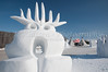 Snow sculptures at the 2009 Festival du Voyageur winter festival in St. Boniface, Winnipeg, Manitoba, Canada.