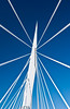 The support structure of the Provencher Bridge over the Red River in Winnipeg, Manitoba, Canada.