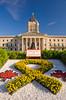 The exterior of the Manitoba Legislative buildings in Winnipeg, Manitoba, Canada.