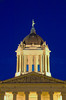 The Manitoba Legislative buildings illuminted at dusk in Winnipeg, Manitoba, Canada.