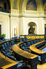 The Legislative chambers of the Manitoba Legislature in Winnipeg, Manitoba, Canada.