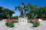 The Louis Riel monument at the Manitoba Legislative buildings in Winnipeg, Manitoba, Canada.