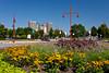 The Portage and Main city skyline of Winnipeg, Manitoba, Canada.