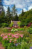 A small cottage in the English Gardens in Assiniboine Park in Winnipeg, Manitoba, Canada.