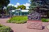 The Visitor's Center at the Leo Mol sculpture gardens in Assiniboine Park in Winnipeg, Manitoba, Canada.