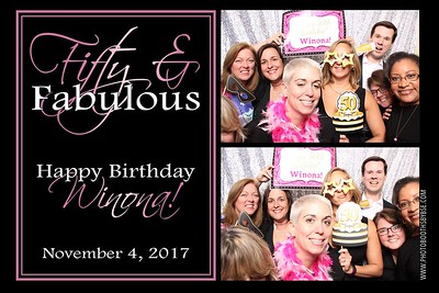 Winona's 50th Birthday Photo Booth
