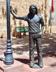 Glenn Frey statue along Route 66 (2018)
