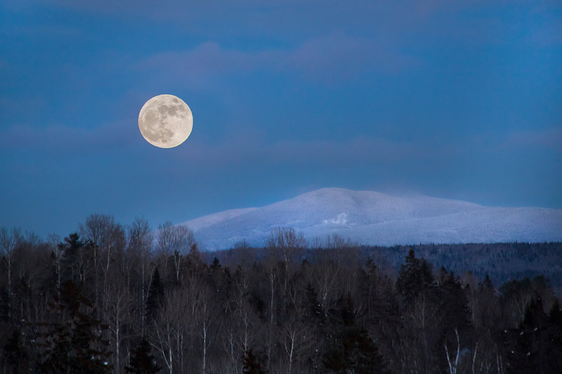 Super Moon over Black Nubble from Rangeley