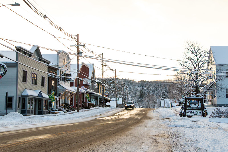 Winter on Main Street Rangeley