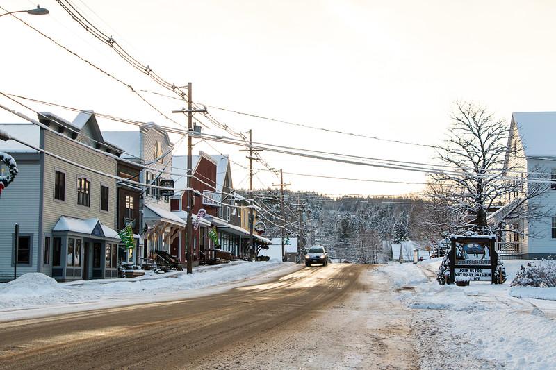 Winter on Main Street Rangeley
