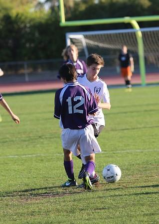 JV boys soccer vs Mesa