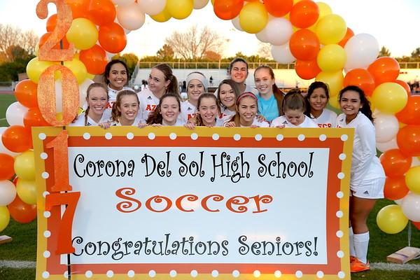 Corona Girls Senior Night