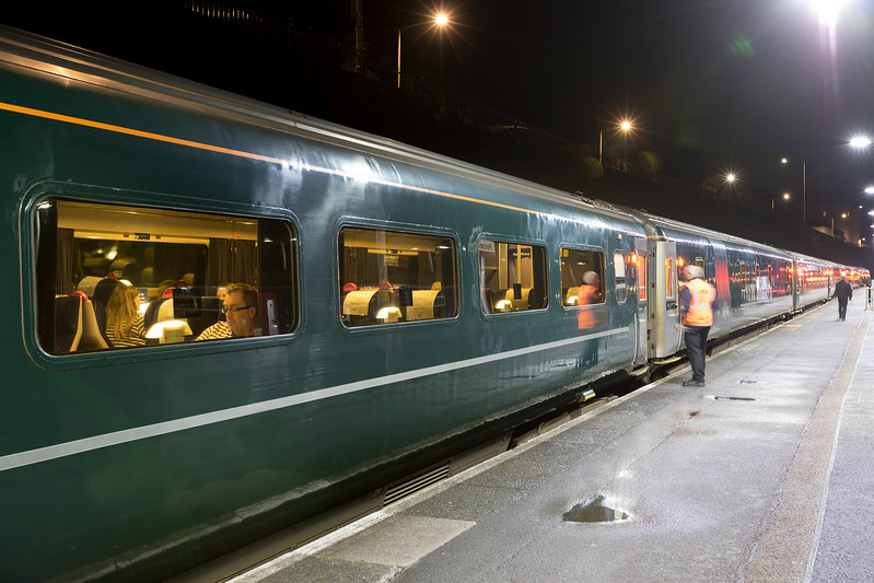 The GWR 1A40 Night Riveria waits to leave.