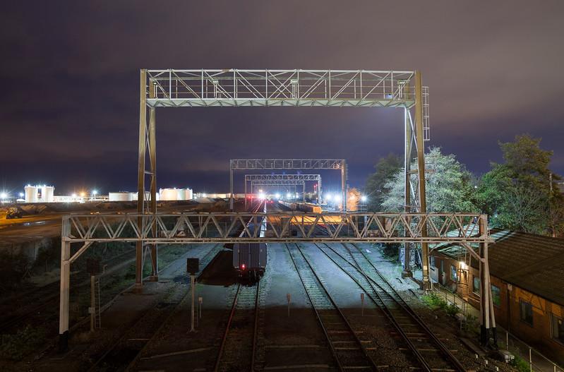 Avonmouth Coal sidings at night.