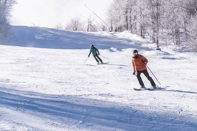 Alasdair Bryan-Brown skiing at Windham Mountain with ASF, the Adaptive Sports Foundation.