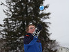HOLLY PELCZYNSKI - BENNINGTON BANNER Elliot Favor, 6th grader at MEMS throws a snowball up in the air during a winter carnival held at Manchester Elementary School on Wednesday morning in Manchester.