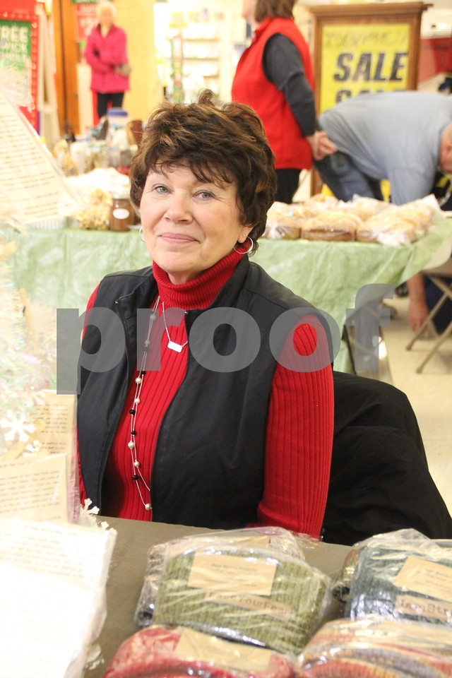 Crossroads Mall in Fort Dodge, was the place to be if you enjoy crafts and vendor shows. The Winter Craft and Vendor Show took place there on Saturday, December 19,2015. Pictured is : Lisa Rotolo, one of the vendors taking part in the event.