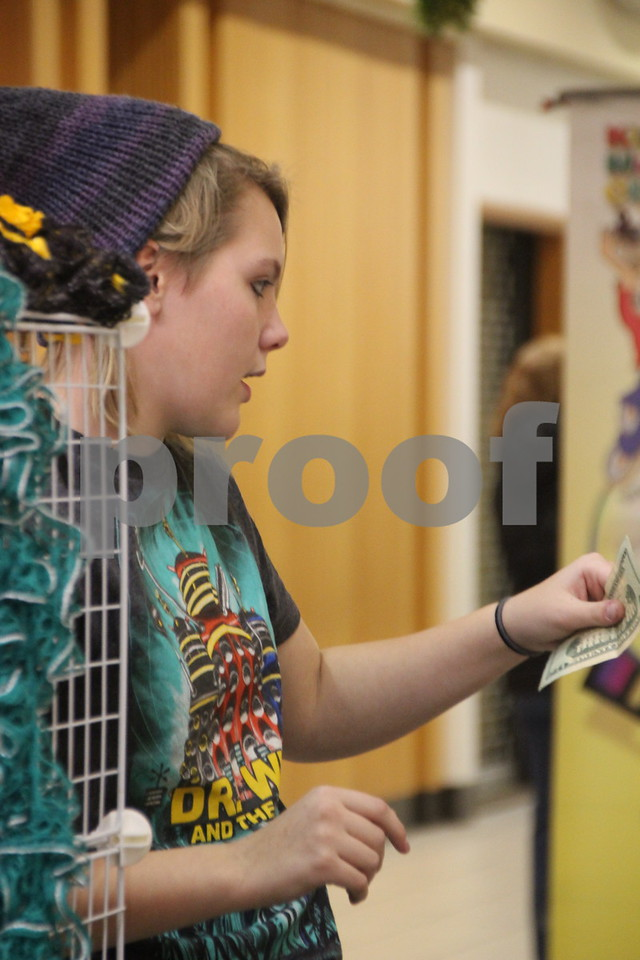 The Winter Craft and Vendor Show took place at Crossroads Mall in Fort Dodge on Saturday, December 19, 2015. Seen here is : Haley Studyvin.