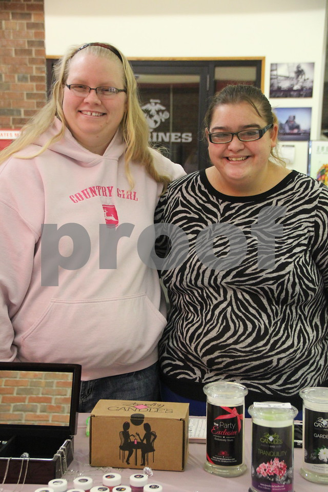The Winter Craft and Vendor Show took place at Crossroads Mall in Fort Dodge  on Saturday, December 19, 2015. Seen ( left to right) is : Angie Bradwell, and Tia York.