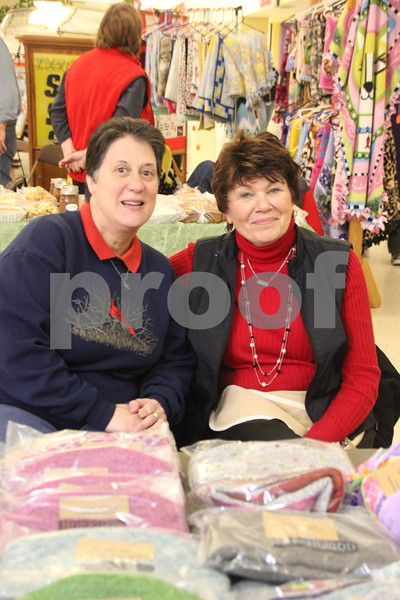 Crossroads Mall in Fort Dodge, was the place to be if you enjoy crafts and vendor shows. The Winter Craft and Vendor Show took place there on Saturday, December 19,2015. Pictured (left to right) is : Julie Hendricks and  Lisa Rotolo, one of the vendors.