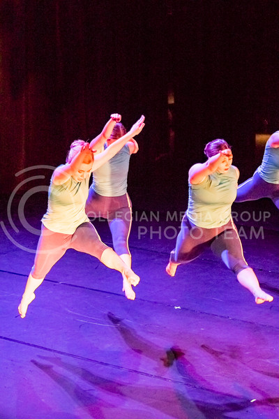 Students with the Kansas State University School of Music, Theatre, and Dance perform during the 2017 Winter Dance at Mark A Chapman Theatre in Manhattan, Kansas on Dec 2, 2017. The recital showcased many styles, including jazz, tap, modern, ballet and African dance. (Alex Shaw | The Collegian)