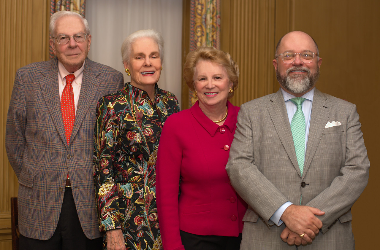 NEHGS Trustee Emeritus Bill Crozier and Prudy Crozier with NEHGS Chairman of the Board Nancy Maulsby and Brenton Simons