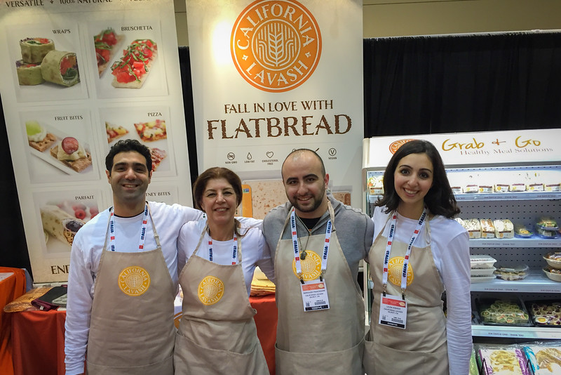 California Lavash flatbread, Winter Fancy Food Show