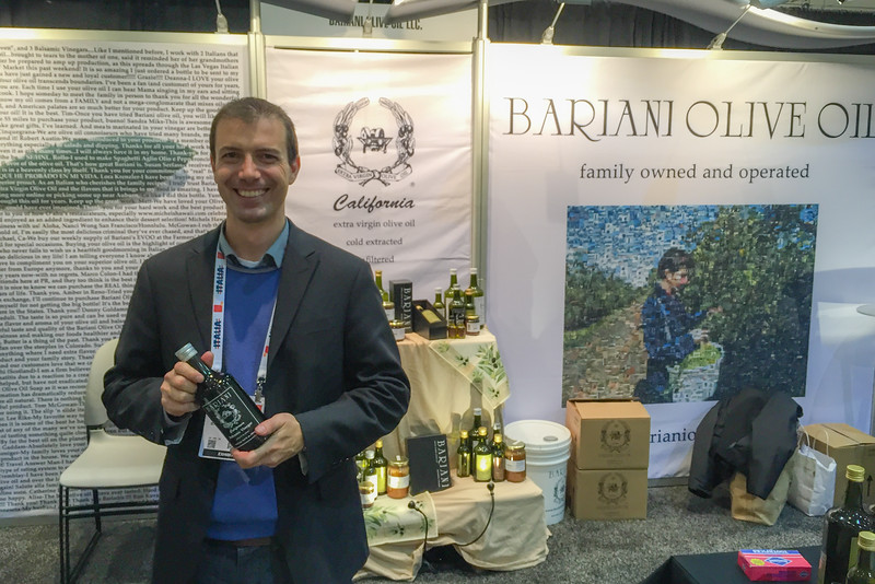 Bariani olive oil at the Winter Fancy Food Show in San Francisco