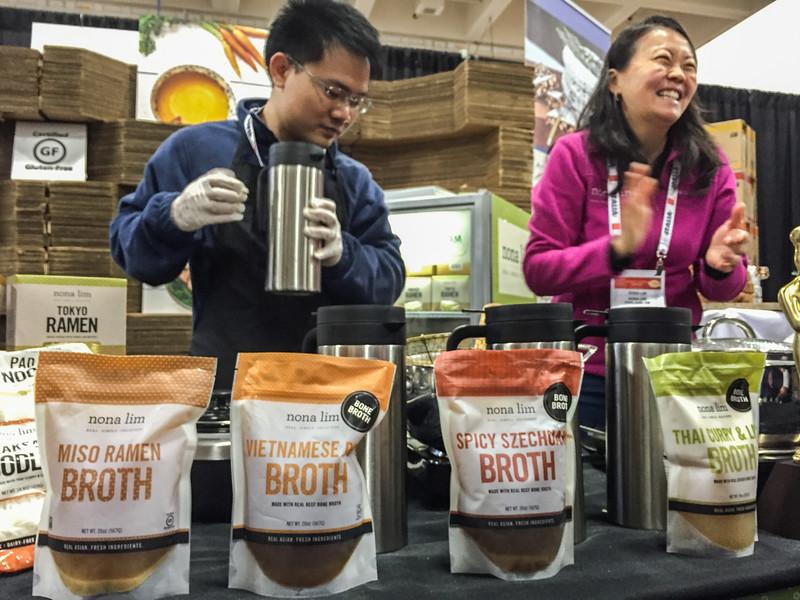 Nona Lim's Asian soup broth - Winter Fancy Food Show 2016, San Francisco