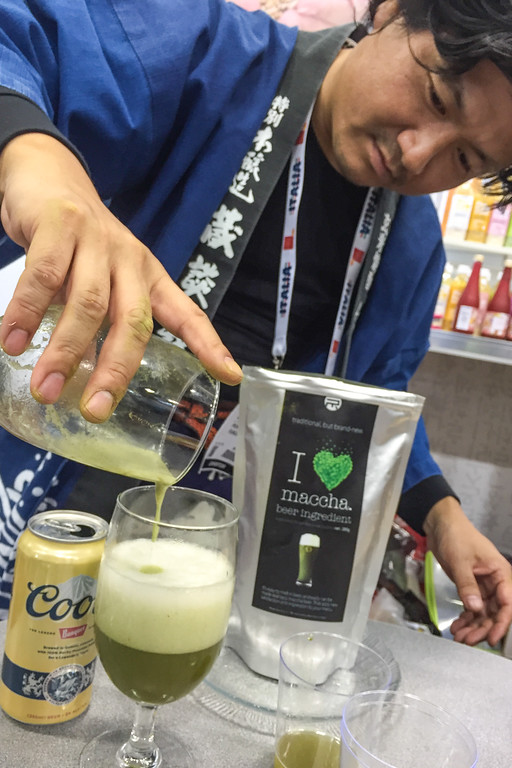 Matcha tea and beer - Winter Fancy Food Show 2016, San Francisco