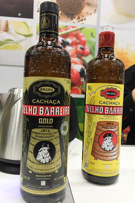 Brazilian Cachaca liquor in the Brazil booth, Winter Fancy Food Show
