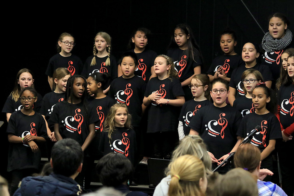 . The Johnny Appleseed treblemakers perform during the Winter Fest at Sky View Middle School on Saturday, January 26, 2019. SENTINEL & ENTERPRISE/JOHN LOVE