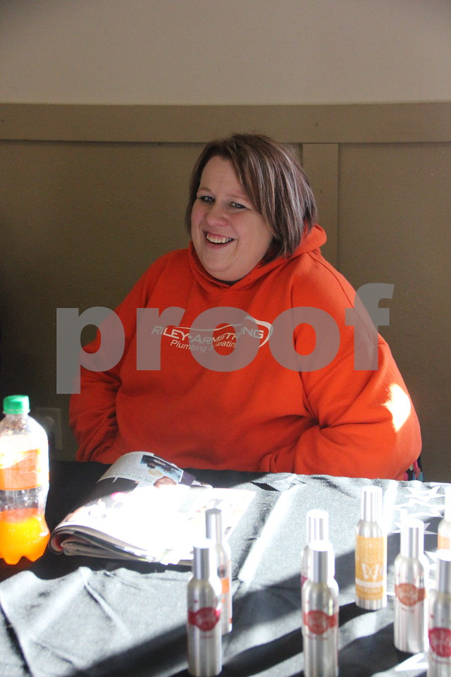 Saturday, January 9, 2016 the Webster County Fairgrounds in Fort Dodge held the Winter Flea Market. The event will go through Sunday, January 10, 2016 . Pictured here is: Holly Umsted who was one of many vendors at the event.