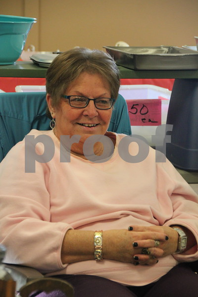 Saturday, January 9, 2016 the Webster County Fairgrounds in Fort Dodge held the Winter Flea Market. The event will go through Sunday, January 10, 2016 . Pictured is: Linda Smith.