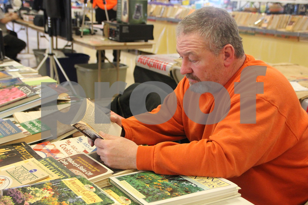 Saturday, January 9, 2016 the Webster County Fairgrounds in Fort Dodge held the Winter Flea Market. The event will go through Sunday, January 10, 2016 . Shown is: Rod Cofer.