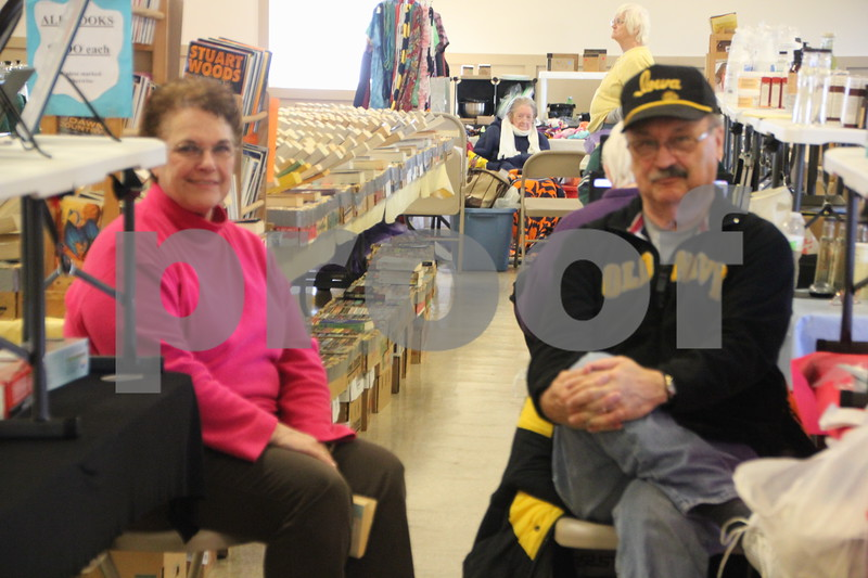 Saturday, January 9, 2016 the Webster County Fairgrounds in Fort Dodge held the Winter Flea Market. The event will go through Sunday, January 10, 2016 . Seen left to right is: Nancy Reiter and Jerry Reiter.